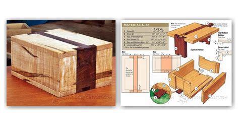 puzzle box plans woodarchivist