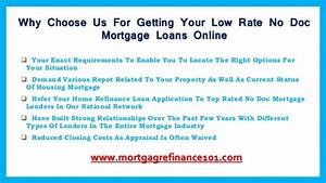 how can no doc mortgage loans work for you with low rates With no documentation no doc mortgage