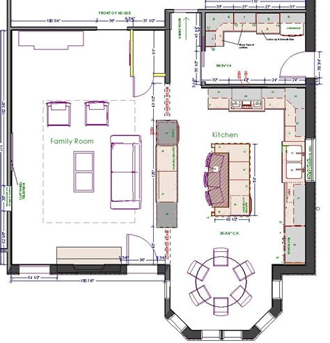 large kitchen design floor plans kitchen floor plans