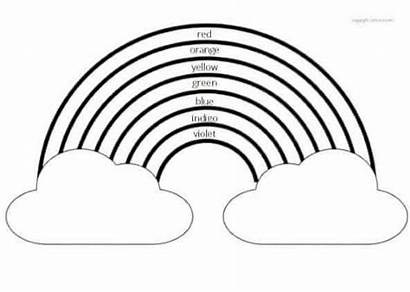 Rainbow Coloring Names Printable Template Books Clouds