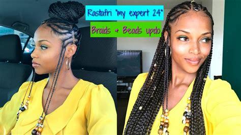 braids beads updo   expert  rastafri kanekalon