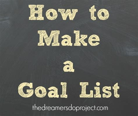 how to make a to do list in word how to make a goal list the dreamers do project