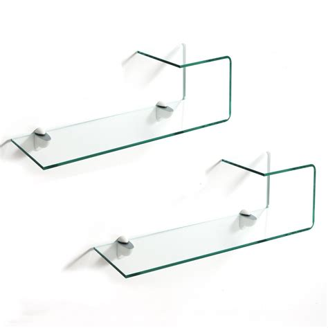 mensole vetro coppia mensole in vetro curvo 10 mm trasparente