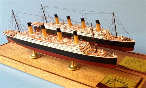 Olympic And Titanic Ocean Liner Models 1900 Scale Scherbak Ship Models
