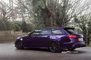 Audi A4 Custom Lights Purple Sled Audi Rs6 Avant On Adv 1 Wheels Autoevolution