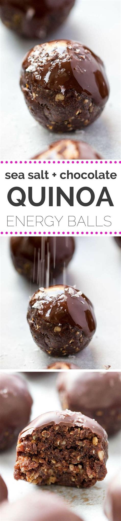 sea salt dark chocolate quinoa energy balls recipe