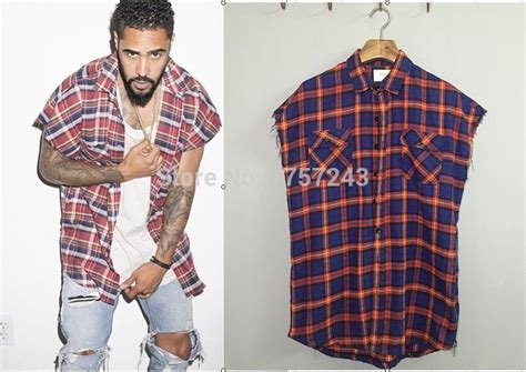 Justin Bieber Fog Plaid Shirt Dress Kanye Latest Mens