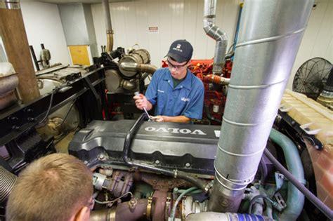 volvo trucks expands diesel tech training  college