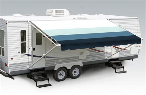 10'-21' Pacific Blue W/wht W/g, Rv Patio Awning