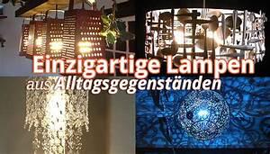 Ausgefallene Lampen Selber Bauen : upcycling 8 ideen f r lampen aus alltagsgegenst nden ~ Markanthonyermac.com Haus und Dekorationen