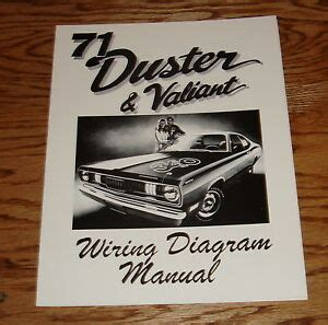 1971 Plymouth Duster Wiring Diagram by 1971 Plymouth Duster Valiant Wiring Diagram Manual 71 Ebay