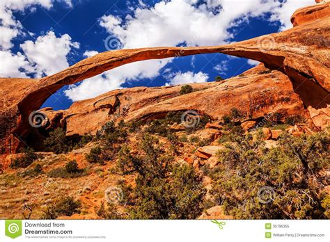 Rugged Environment by Landscape Arch Rock Canyon Arches National Park Moab Utah