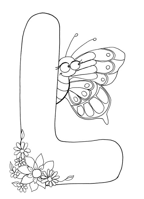 Coloring Letters by Letter L Coloring Pages To And Print For Free