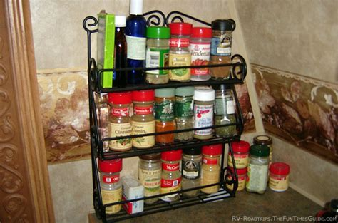Spice Rack For Rv by Equipping Your Rv Kitchen Tips For Storage Organization
