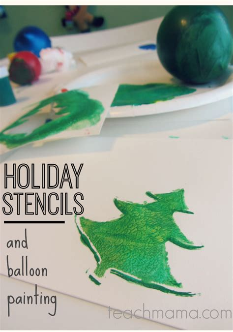 christmas card stencils holiday card stencils and balloon stamps teach mama