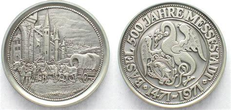 1971 Schweiz - Medaillen BASEL 1971 500 JAHRE MESSESTADT ...