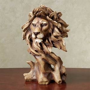 Lion Bust Sculpture