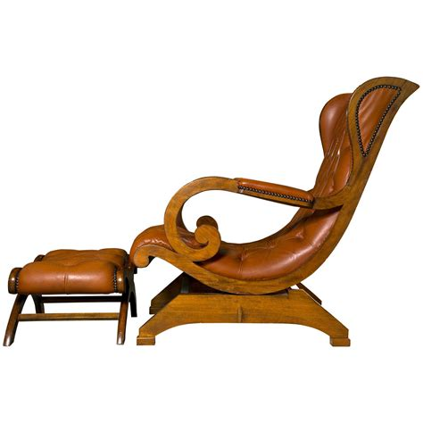 rocking chair and ottoman tufted leather rocker and ottoman at 1stdibs