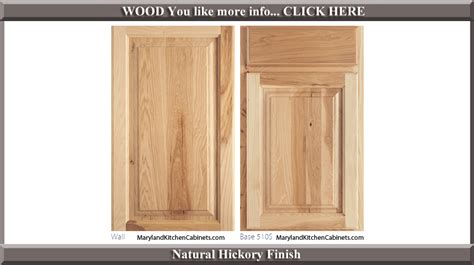 hickory cabinet door styles  finishes