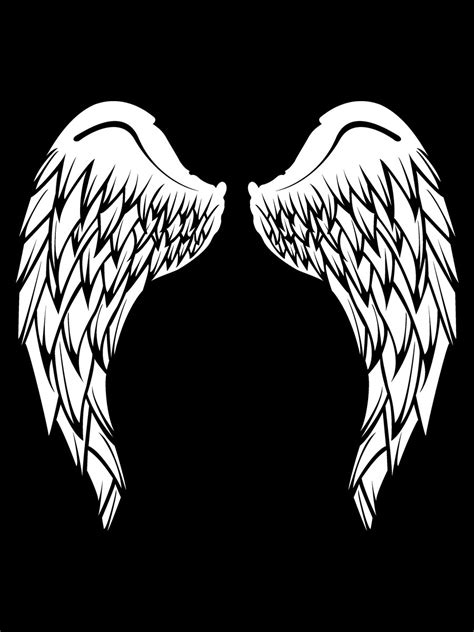 Angel Wings T-Shirt - Black Mens (Backprint only!) - Buy
