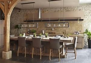 cuisine ouverte decouvrez toutes nos inspirations elle With deco cuisine avec table pour salon