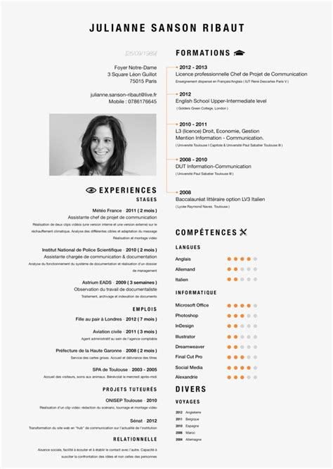 Curriculum Vitae Layout Exles by More Infographic Cv Inspiration Luke And Jules