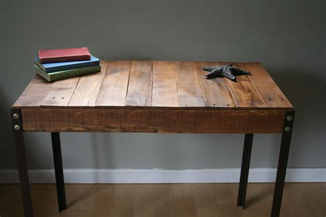 rustic wood desk rustic reclaimed wood desk table with industrial iron legs