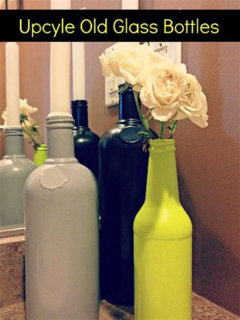 decoart blog crafts upcycle  glass bottles