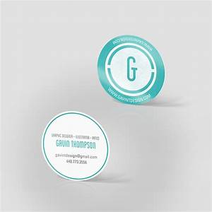 2quot circle business cards jakprints inc for Circle business card