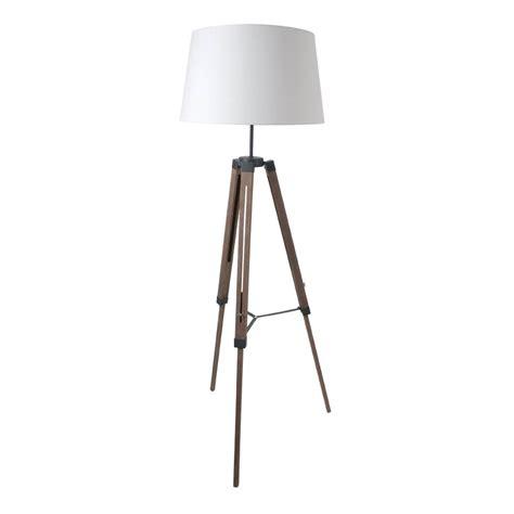 mobilier de cuisine pas cher ladaire trépied en bois avec abat jour en coton hauteur