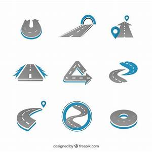 Variety of road logos Vector | Free Download