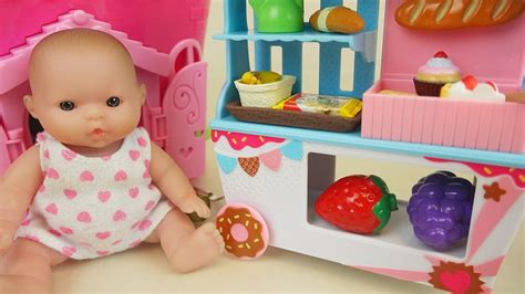 baby doll  food cart house toys play youtube