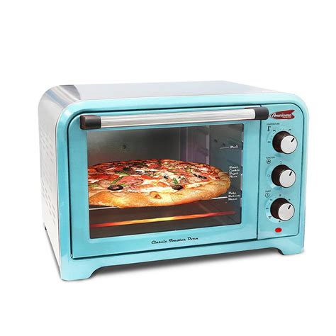 Toaster Oven Teal by Americana 6 Slice Of Bread Or 12 In Pizza Retro Toaster