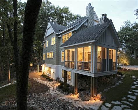 traditional exterior white lap siding design pictures