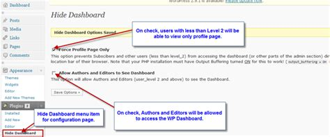 Ban Access To Wp Dashboard For Authors With Hide Dashboard