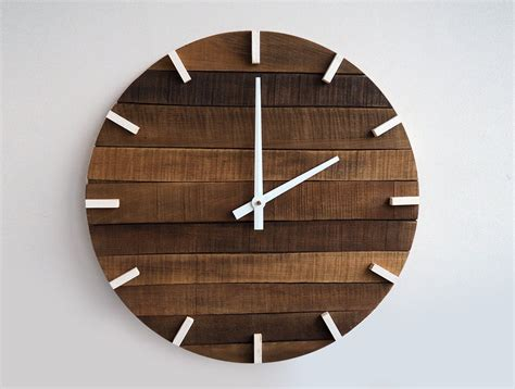 home decor clock rustic wall clock large wall clock home decor by