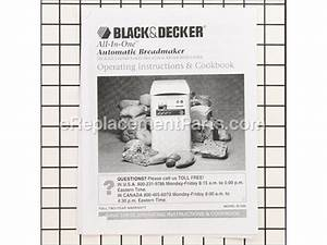 Oem Black And Decker Bread Maker Owners Manual  Om