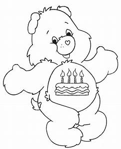 Happy Birthday Teddy Bear Coloring Pages For Kids Frh ...