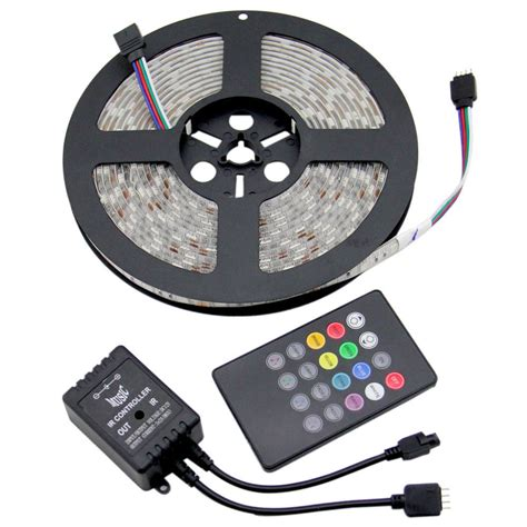 sound activated led light strips 5 100m 5050 rgb led strip light dimmable sound activated