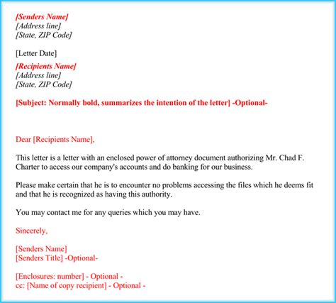 Free Consent To Change Attorney Form by Power Of Attorney Authorization Letter How To Format It
