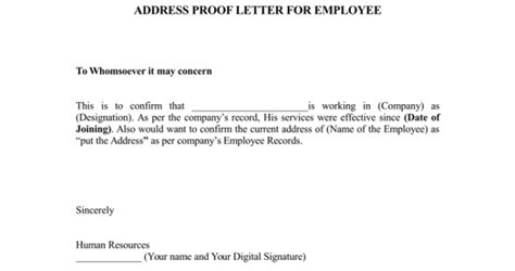 proof of address letter 25 notarized letter templates sle letters in word