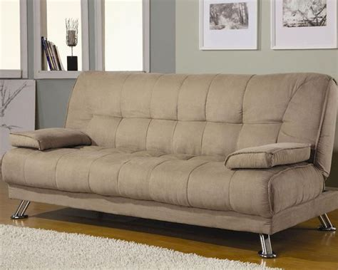 coaster furniture sofa bed  removable armrest  tan