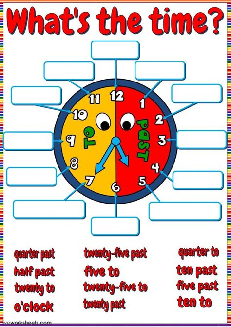 telling  time interactive  downloadable worksheet