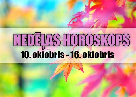 Nedēļas horoskops: (10. oktobris - 16. oktobris) | Populars