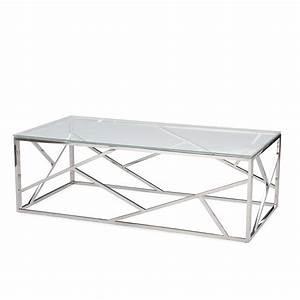aero chrome glass coffee table modern furniture With modern glass and chrome coffee table