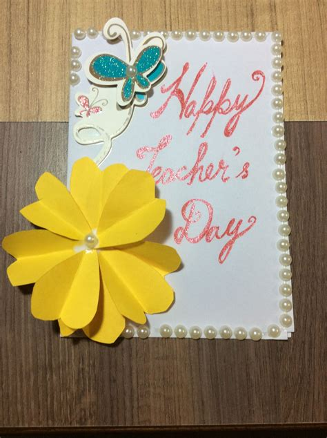 happy teachers day handmade cards  images cards