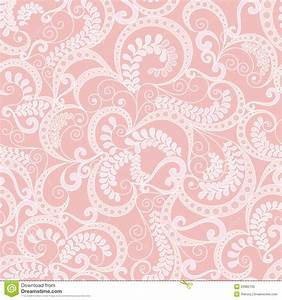 Ornate Seamless Pattern On Pink Background Stock ...