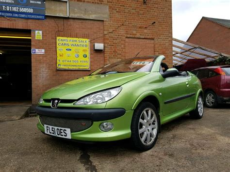 Peugeot Convertible by 2001 Peugeot 206 Cc Convertible In Leicester