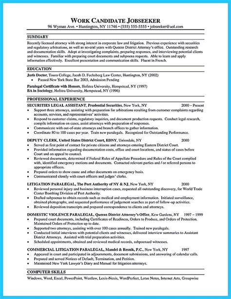 arranging  great attorney resume sample