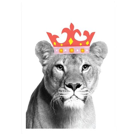 lion queen printed wall art temple webster